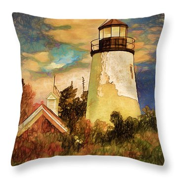 Dice Head ,castine, Maine Throw Pillow by Dave Higgins