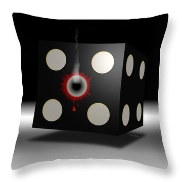 Five Die Throw Pillow