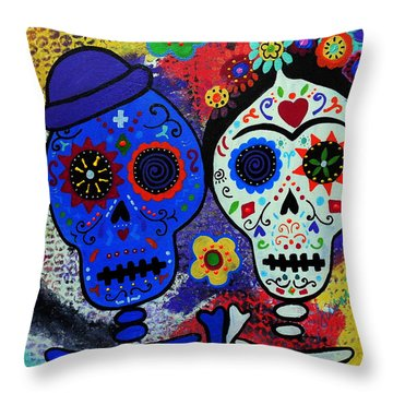 Diego Rivera And Frida Kahlo Dia De Los Muertos Throw Pillow