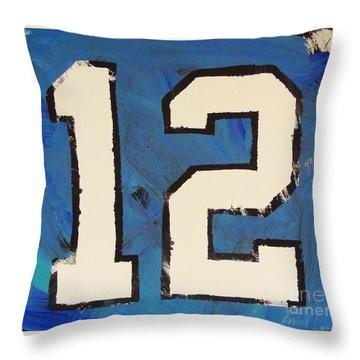 Diehard 12th Man Throw Pillow