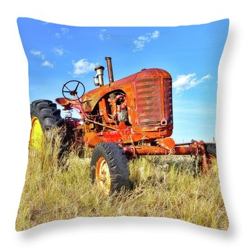Diesel Red Throw Pillow