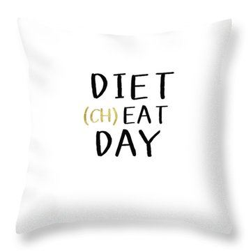Diet Cheat Day- Art By Linda Woods Throw Pillow