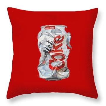 Diet Coke T-shirt Throw Pillow