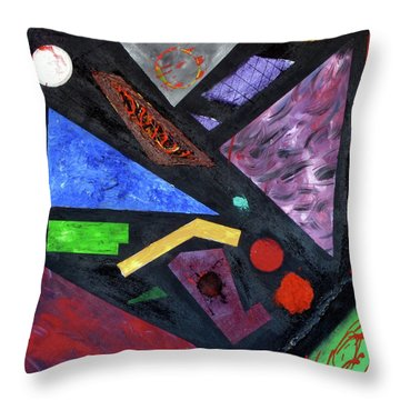 Throw Pillow featuring the painting Differences by Michael Lucarelli