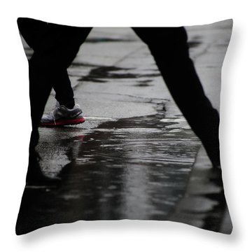 different Directions  Throw Pillow by Empty Wall