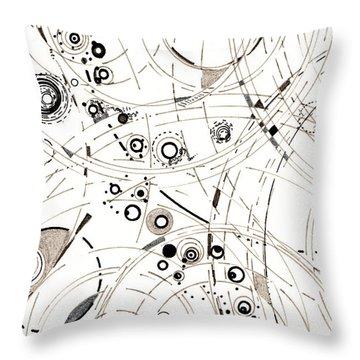Diffracting Around Throw Pillow