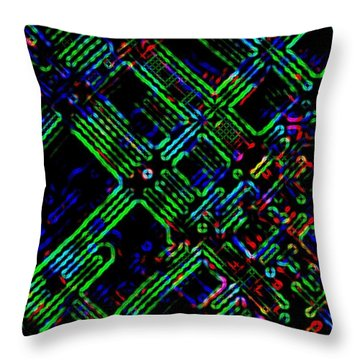 Diffusion Component Throw Pillow by Will Borden