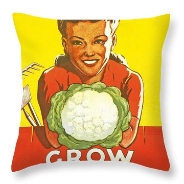 Dig For Victory Throw Pillow
