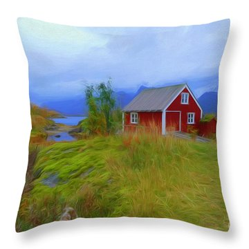Digermulen,lofoten Throw Pillow