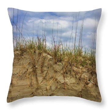 Digging In Deep In Sand Dunes Throw Pillow
