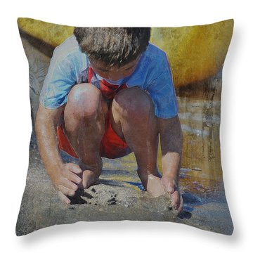 Digging To China 2 Throw Pillow