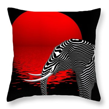 Digiphant Throw Pillow