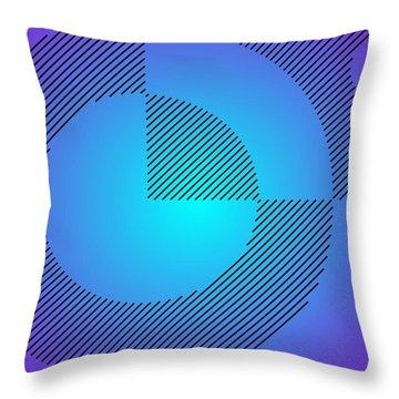 Digital Abstract Art 001 A Throw Pillow