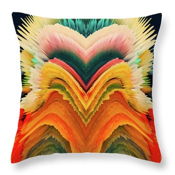 Throw Pillow featuring the photograph Vivid Eruption by Colleen Taylor