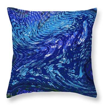 Digital Abstract Crystals In Iwarp Cosmos 3 Throw Pillow