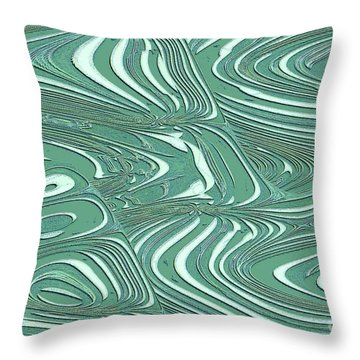 Digital Abstract Throw Pillow by Marsha Heiken