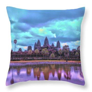 Digital Art Cambodia Angkor Wat  Throw Pillow