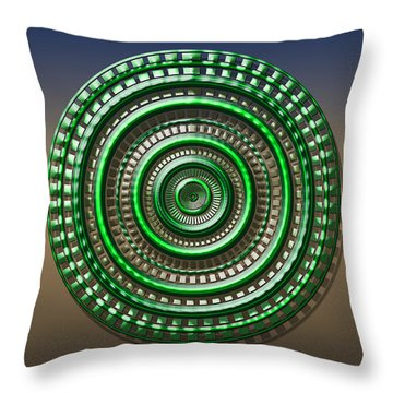 Digital Art Dial 3 Throw Pillow