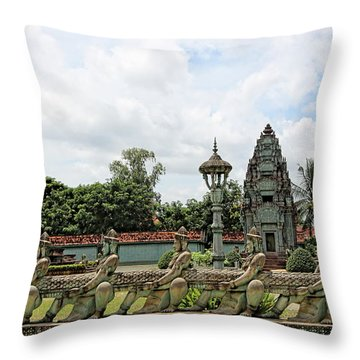 Digital Cambodia Architecture  Throw Pillow