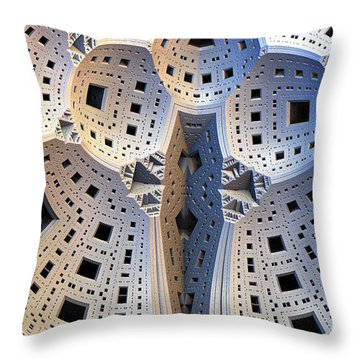 Digital Chalk Throw Pillow