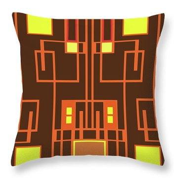 Digital Deco Throw Pillow