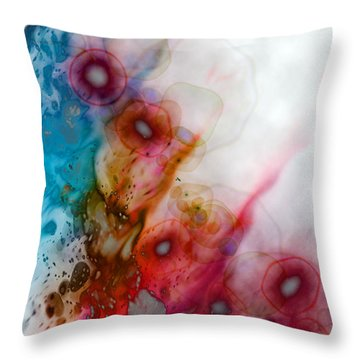 Throw Pillow featuring the digital art Digital Dreaming by Linda Sannuti