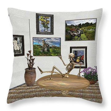Digital Exhibition _ Relaxation In The Afterlife Throw Pillow