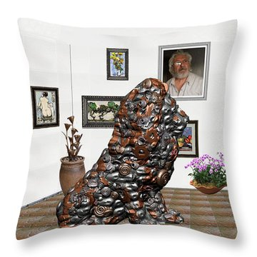 digital exhibition _Modern Statue of scrap Throw Pillow by Pemaro