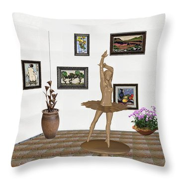 Digital Exhibition_statue Of My Dancing Girl Throw Pillow