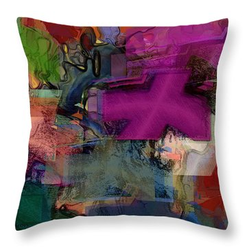 Digital Fun No.1 Throw Pillow