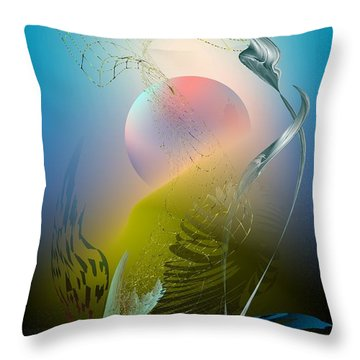 Digital Garden 4 Throw Pillow by Leo Symon