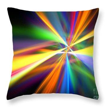 Digital Lightshow Throw Pillow