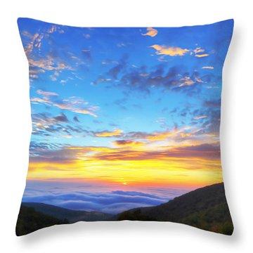 Digital Liquid - Good Morning Virginia Throw Pillow