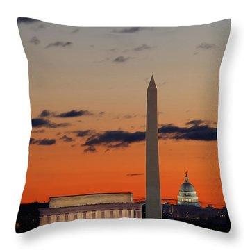 Digital Liquid -  Monuments At Sunrise Throw Pillow