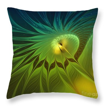 Digital Nature Throw Pillow