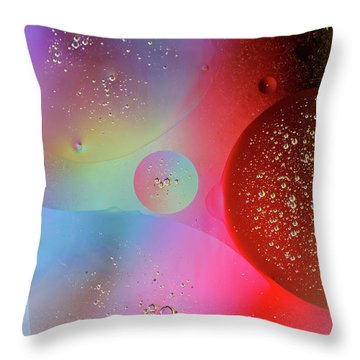 Throw Pillow featuring the photograph Digital Oil Drop Abstract by John Williams