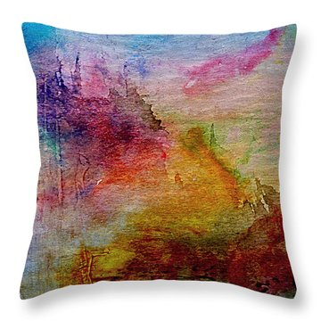 1a Abstract Expressionism Digital Painting Throw Pillow
