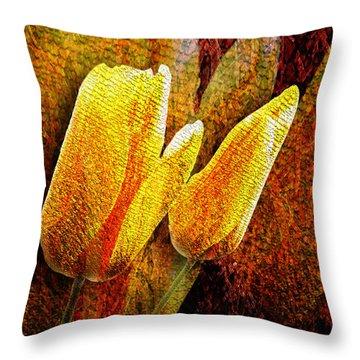 Digital Tulips Throw Pillow by Svetlana Sewell