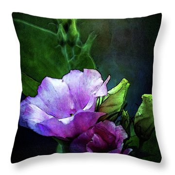 Digital Watercolor Elegance 3700 W_2 Throw Pillow
