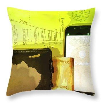 Digitalization Throw Pillow