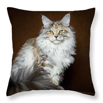 Dignified Lady Throw Pillow