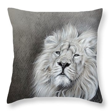Throw Pillow featuring the drawing Dignity by Elena Kolotusha