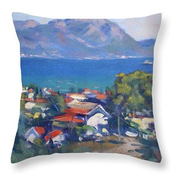 Dilesi And Evia Island Greece Throw Pillow