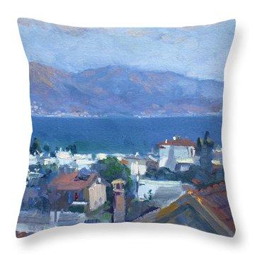 Dilesi By Aegean Sea Greece Throw Pillow