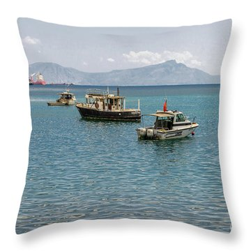Throw Pillow featuring the photograph Dili Harbour 01 by Werner Padarin