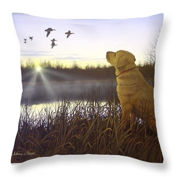 Diligence Throw Pillow