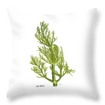 Dill Plant Throw Pillow