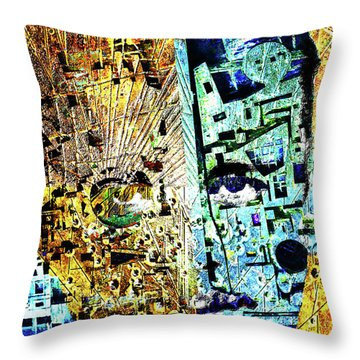 Throw Pillow featuring the painting Dillinger by Tony Rubino