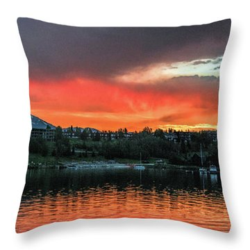Dillon Marina At Sunset Throw Pillow
