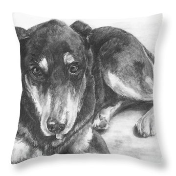 Dillon Throw Pillow by Meagan  Visser